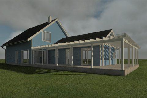 Eramaja projekt Vanamõisa külas